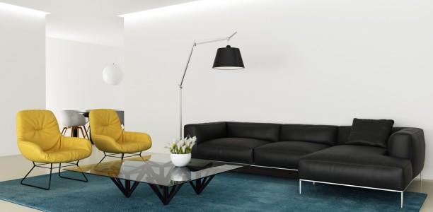 Un canapé en cuir design et élégant